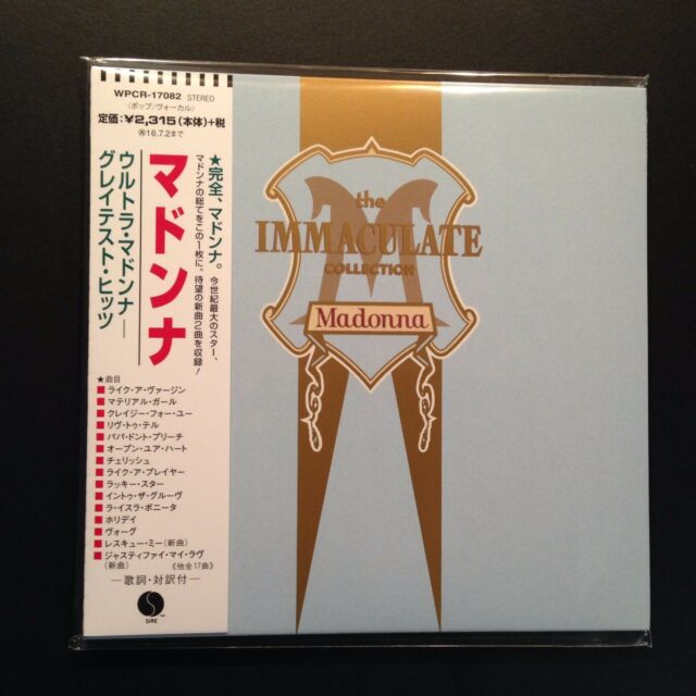 The Immaculate Collection - Madonna (CD, 2016, Mini-LP, OOP, Warner Music Japan)