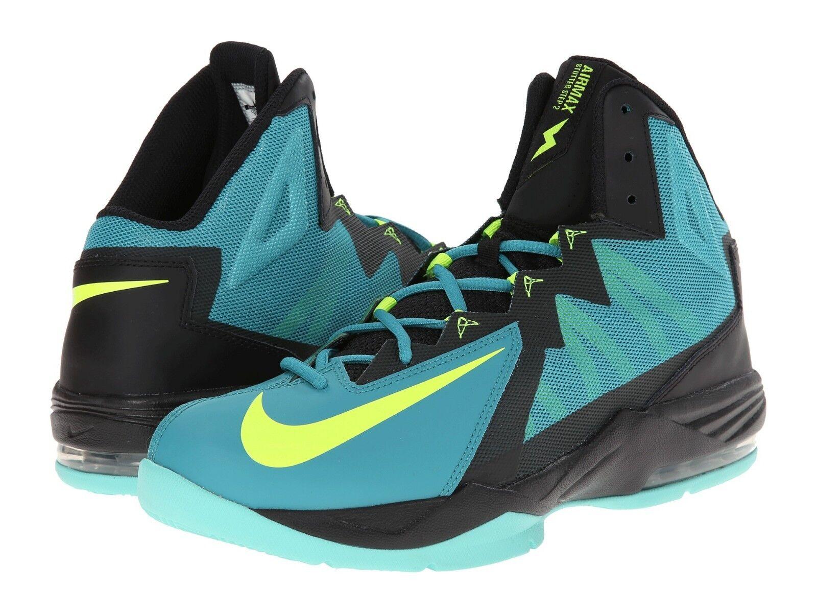 Nike Basketball Air Catalina/Volt/Black Max Stutter Step2 Sneakers Catalina/Volt/Black Air Mens Size 11 696485