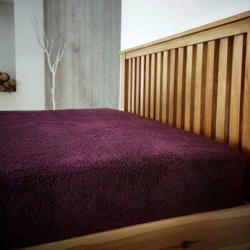 Teddy Bear Fleece Cozy Warm Deep Fitted Bed Sheet Mattress Cover Pillowcase