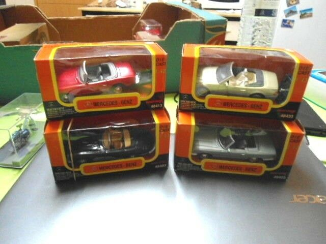Druckguss 1   43 menge de 4 mercedes 280sl 1968-350sl 1971-600sl 1992 - 300sl 1957