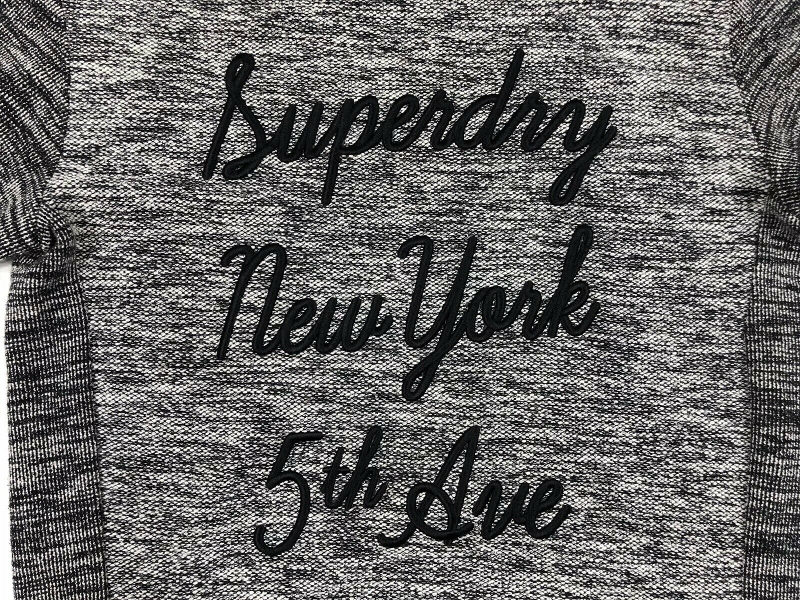c642b4e6e9 ... Superdry Women s New York York York 5th Ave Spell Out Grey Zipper  Sweater Dress Size Small ...