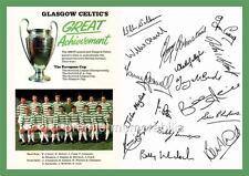 CELTIC FC 1967 EUROPEAN CUP FINAL SIGNED (PRINTED)x16 JOCK STEIN JIMMY JOHNSTONE