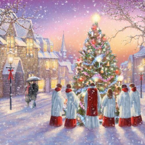 17109 /'Carols Around the Tree/' Pack of 10 Christmas Cards