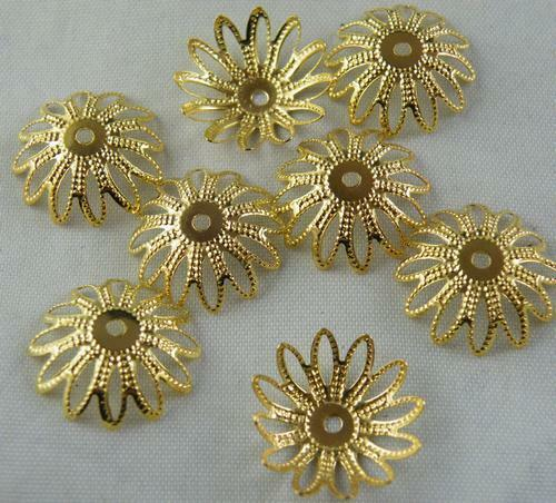 200pcs Silver//Gold//Bronze etc.Large Flower Bead Caps 17mm S150-S153