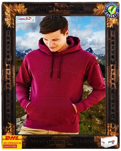 Kapuzenpullover Sweatshirt Hoody Kapuzensweat Tasche in 20 Farben Gr.S-2XL