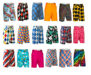 Mens-Golf-Shorts-by-Royal-and-Awesome-Funky-amp-Loud-Bright-Waist-Size-30-46-NEW