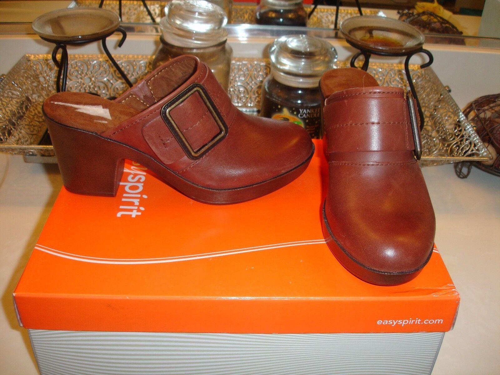 Easy Spirit Easyspirit Harvina Mule Braun Leder fun shoe quality Nice 89