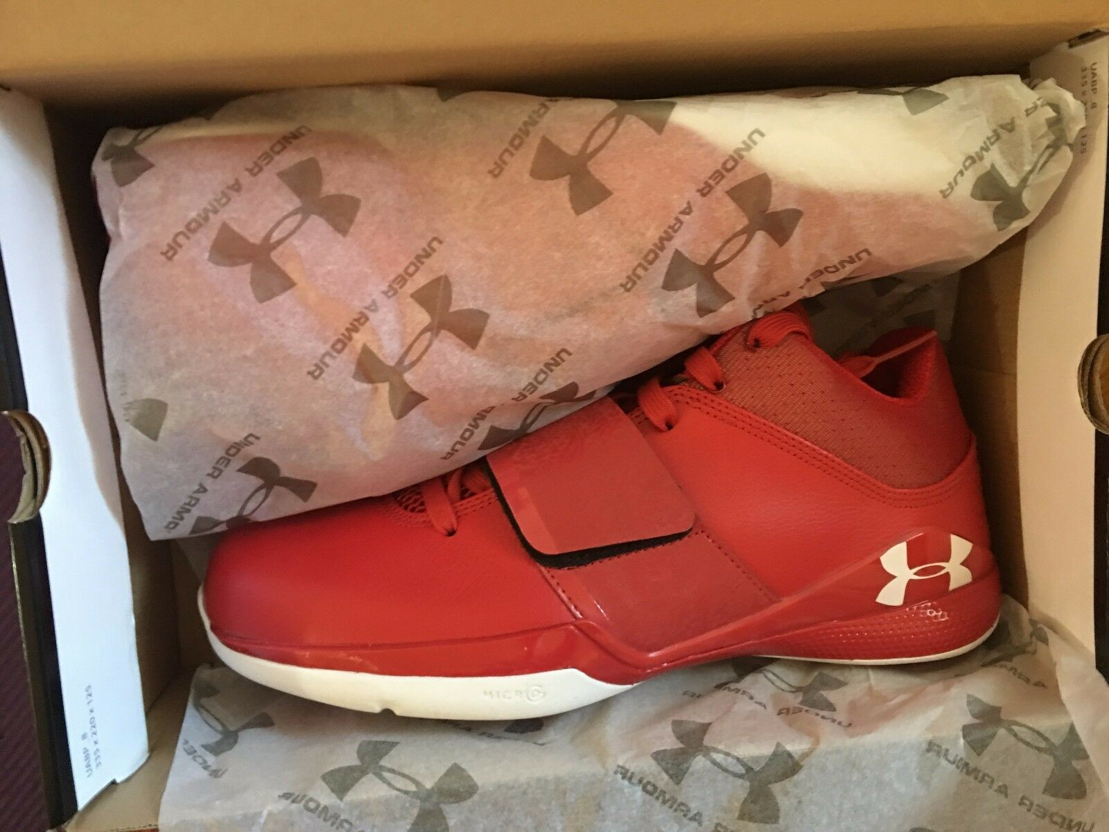 Under Armour Micro G Bloodline Brandon Jennings Jennings Jennings Red New DS 10.5 curry clutchfit d380eb