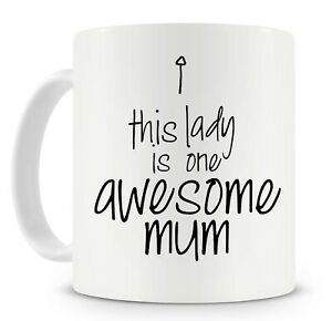 Mother-039-s-Day-Mug-This-Lady-Is-One-Awesome-Mum-Personalise-it-add-her-name