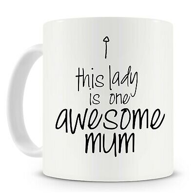 Mother's Day Mug - This Lady Is One Awesome Mum - Personalise it, add her name!