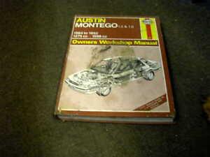 AUSTIN-MONTEGO-1984-1992-USED-HAYNES-WORKSHOP-MANUAL