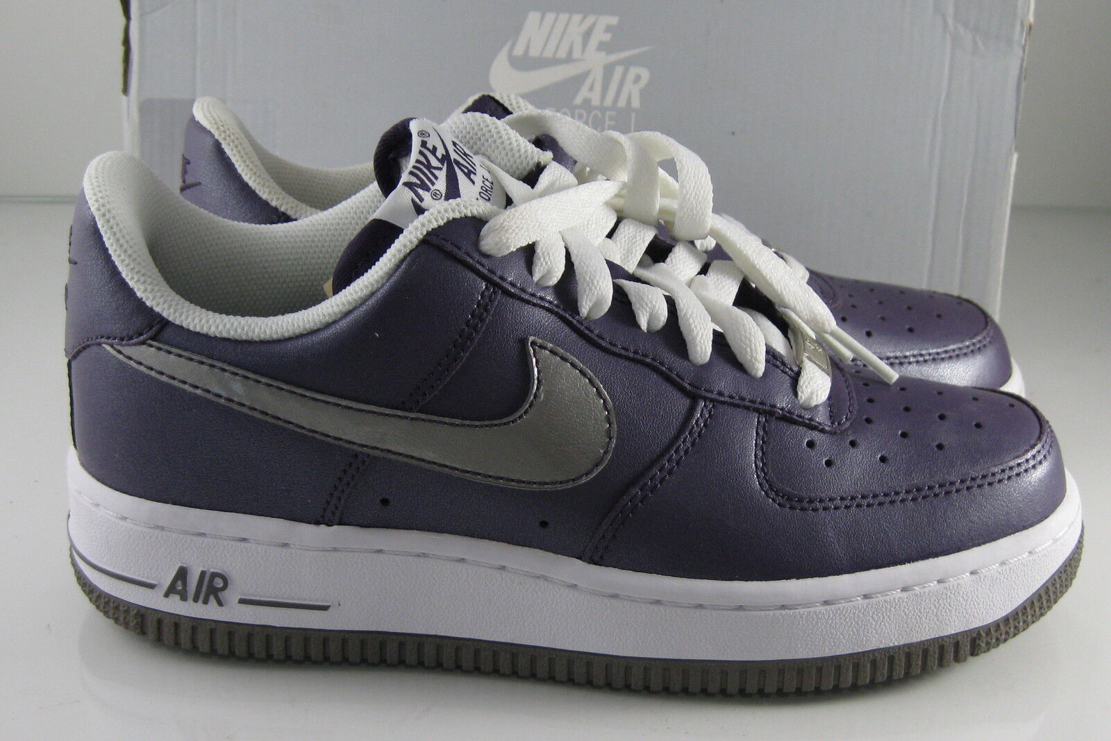 New Nike Air Force 1 '07 Purple/White/Silver 315115 501    Size 6