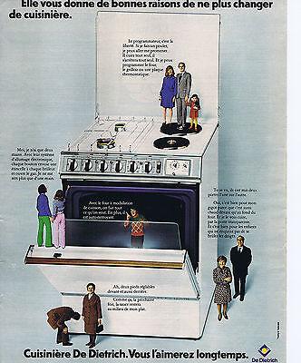 Publicite Advertising 064 1973 De Dietrich Cuisinière Vous L'aimerez Longtemps Breweriana, Beer