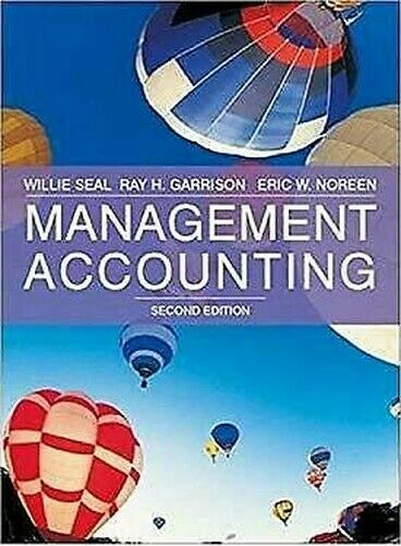 Management Accounting von Seal, Will