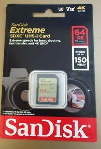 SanDisk Extreme PRO 64 Go Carte mémoire SDXC jusqu'à 170MB/s, UHS-1, classe