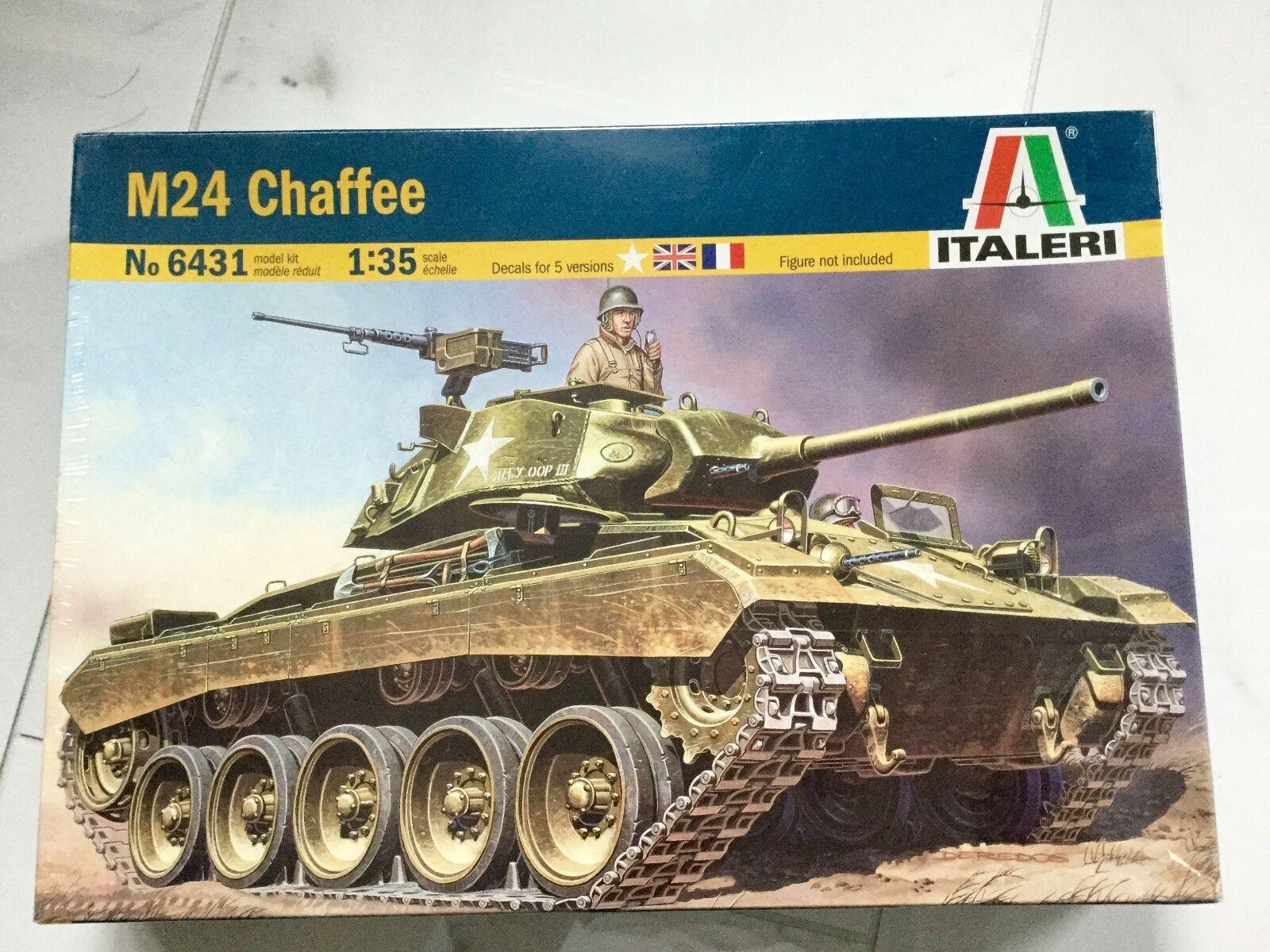 ITALERI 1 35 WW-II AMERICAN M-24 CHAFFEE PLASTIC TANK MODEL KIT ITEM F S