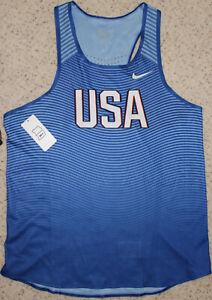 Details about Original Nike Team USA Track Field Tank RedWhiteBlue, Size Men's Large!
