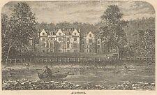 C8001 Scotland - Abbotsford House - Stampa antica - 1892 Engraving