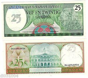 Suriname Surinam Billet 25 Gulden 1985 P127 Unc Neuf Ffqa6mdp-07224914-289633355