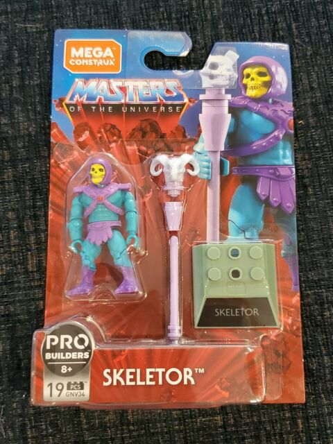 NEW Mega Construx Masters Of The Universe Skeletor 19 Pieces on Hanger Card