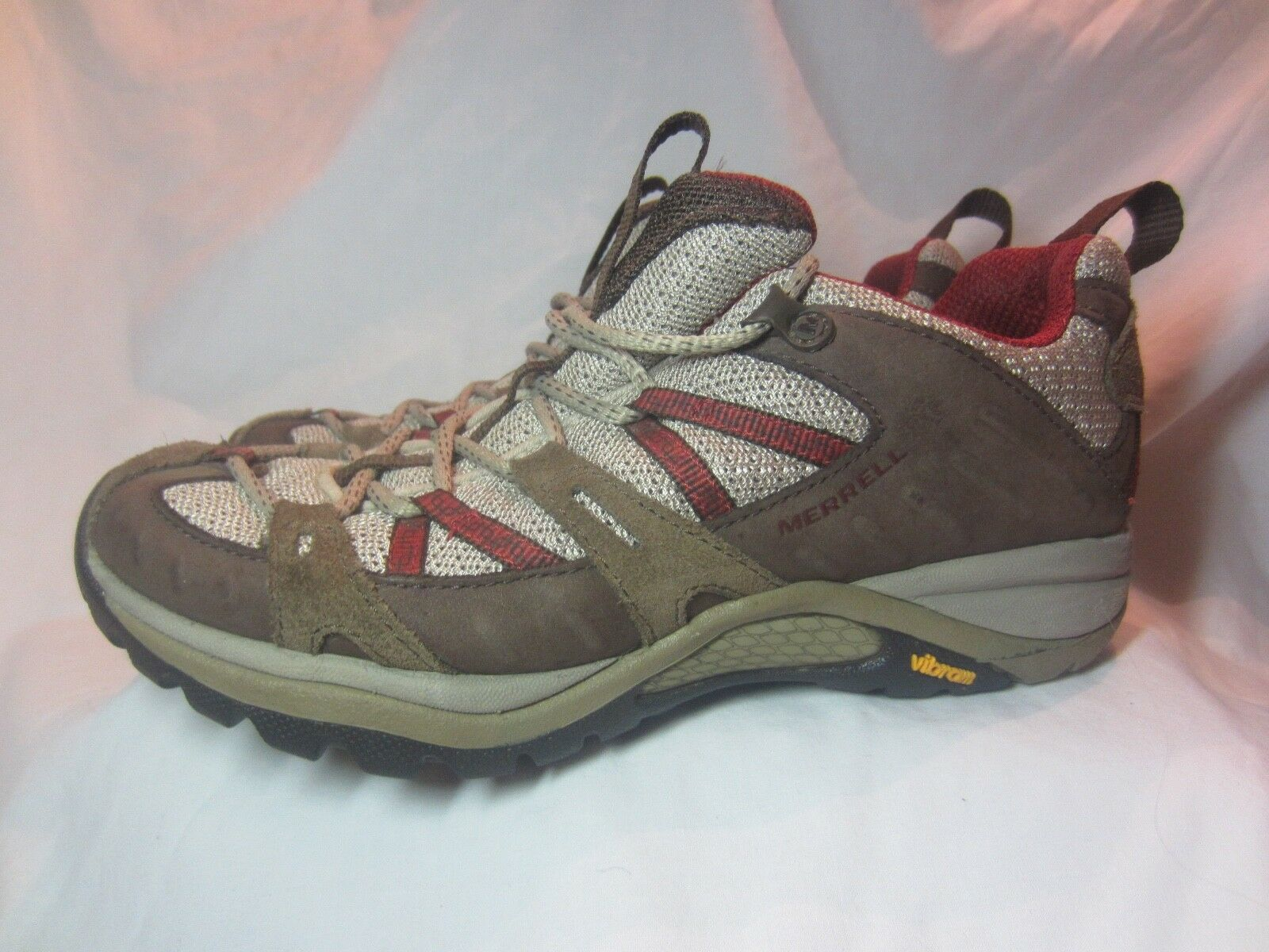 MERREL SIREN SPORT CHOCOLATE LEATHER HIKING SHOES WOMEN'S SIZE 6.5 M  J13046