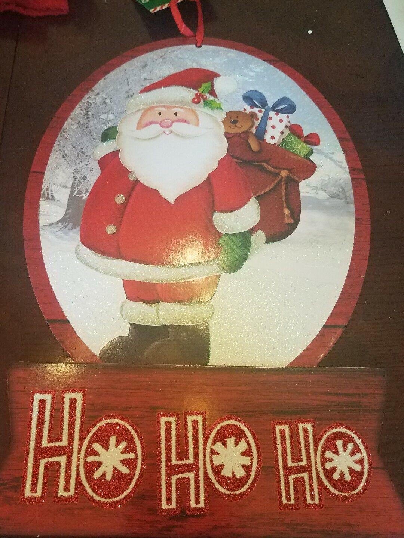 3pc Santa  Wall Mural Holiday Christmas Photo Backdrop