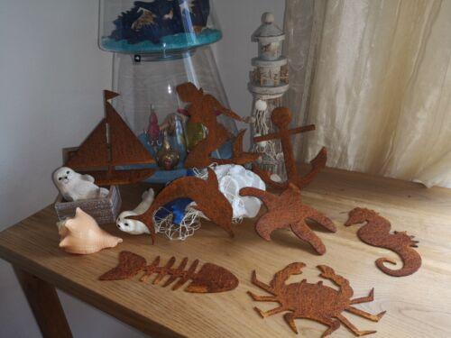 Edelrost,anhänger,aufhängen,hänger Maritime Deko Fisch,Krebs,Schiff,Delfin..neu