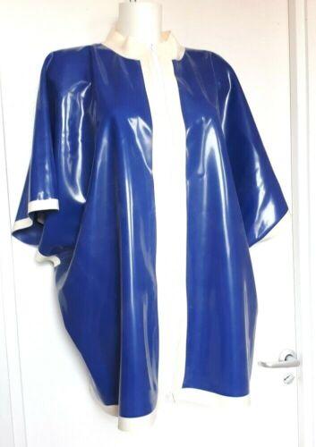 Latex rubber  GOWN TUNIQUE  DRESS ROBE fetish  unisex Blue