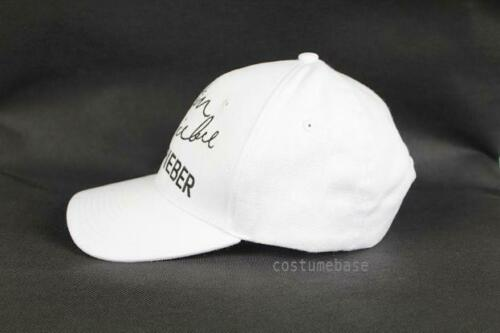JUSTIN BIEBER Baseball Cap Hat White Or Black Stitched Embroidered Autographed