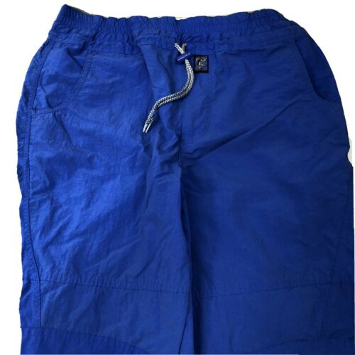 Vintage Bugle Boy Blue Nylon Baggy Parachute Pants