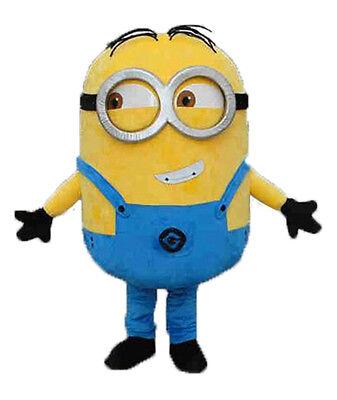 Abile Mascotte Minions Mascot Carnevale Adulti Costume Professionale Occhiali Mod 3