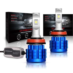LED-Headlight-Kit-H11-H8-H9-800W-120000LM-Plug-amp-Play-Pair-Bulbs-CREE-6500K-White