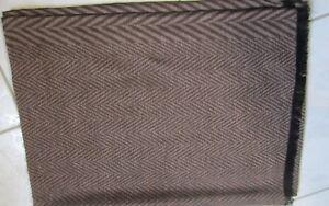 Echarpe homme marron très chic motif chevron laine  cachemire 190 X 69 cm d1c718fbb9f3