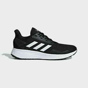 Details about Adidas Duramo 9 Mens Running Shoes Black/White Cushioned Trainers Cloudfoam