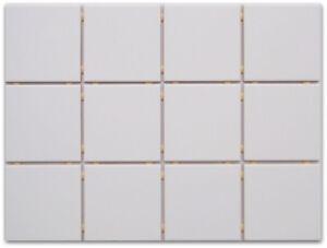 Dettagli su Piastrelle da Cucina a rete normale Bianco/opaco 10x10 adatto  per decalcomanie- mostra il titolo originale