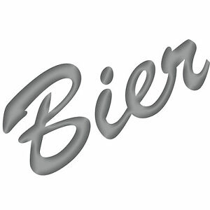 Biere-15cm-Argent-Autocollant-Tatouage-Deco-Film-Lettrage-Cuisine-BAR-Frigo