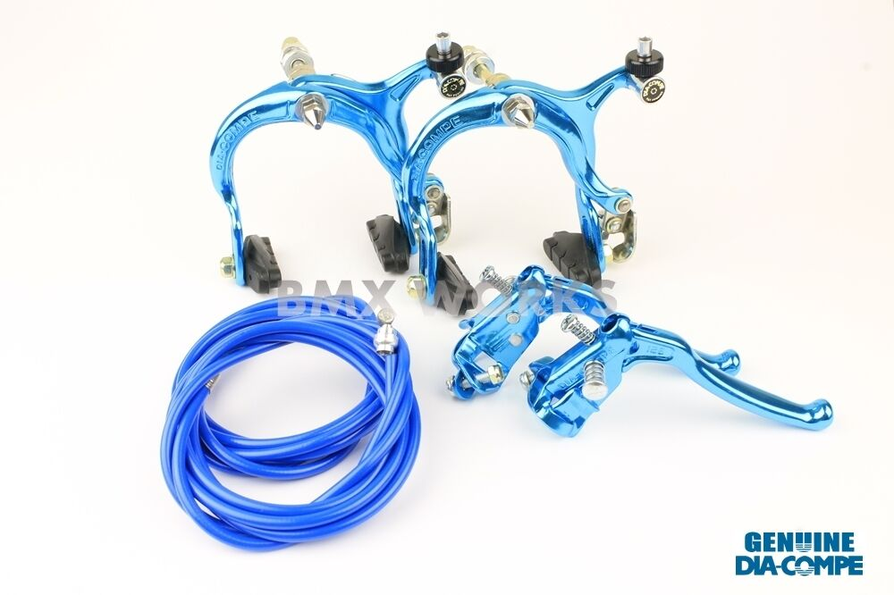 Dia-Compe MX883 - MX128 Bright Blau Brake Set - Old Vintage School BMX