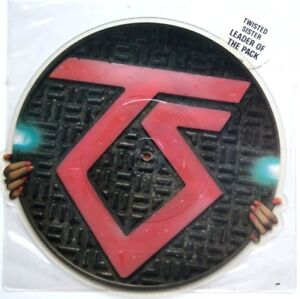 Ex-Ex-TWISTED-SISTER-LEADER-OF-THE-PACK-VINYL-Shaped-Picture-Pic-Disc