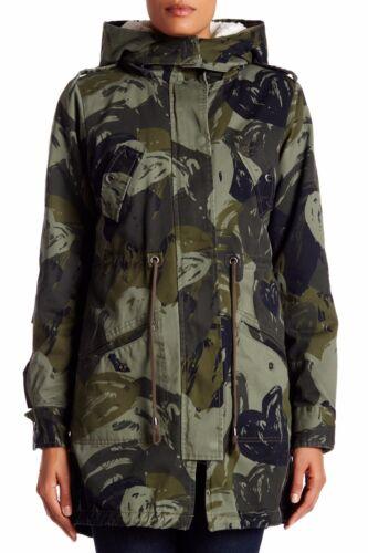 capuche doublure et taille kaki 14 camouflage détachable Desigual Parka avec à qwTpqExR