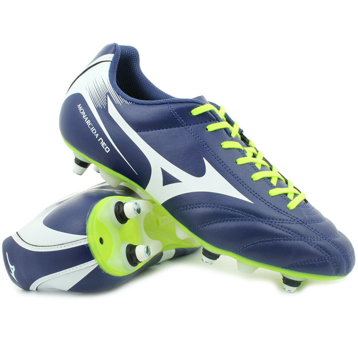 shoes CALCIO MISTA MIZUNO MONARCIDA NEO MIX blue yellow LIME P1GC172402