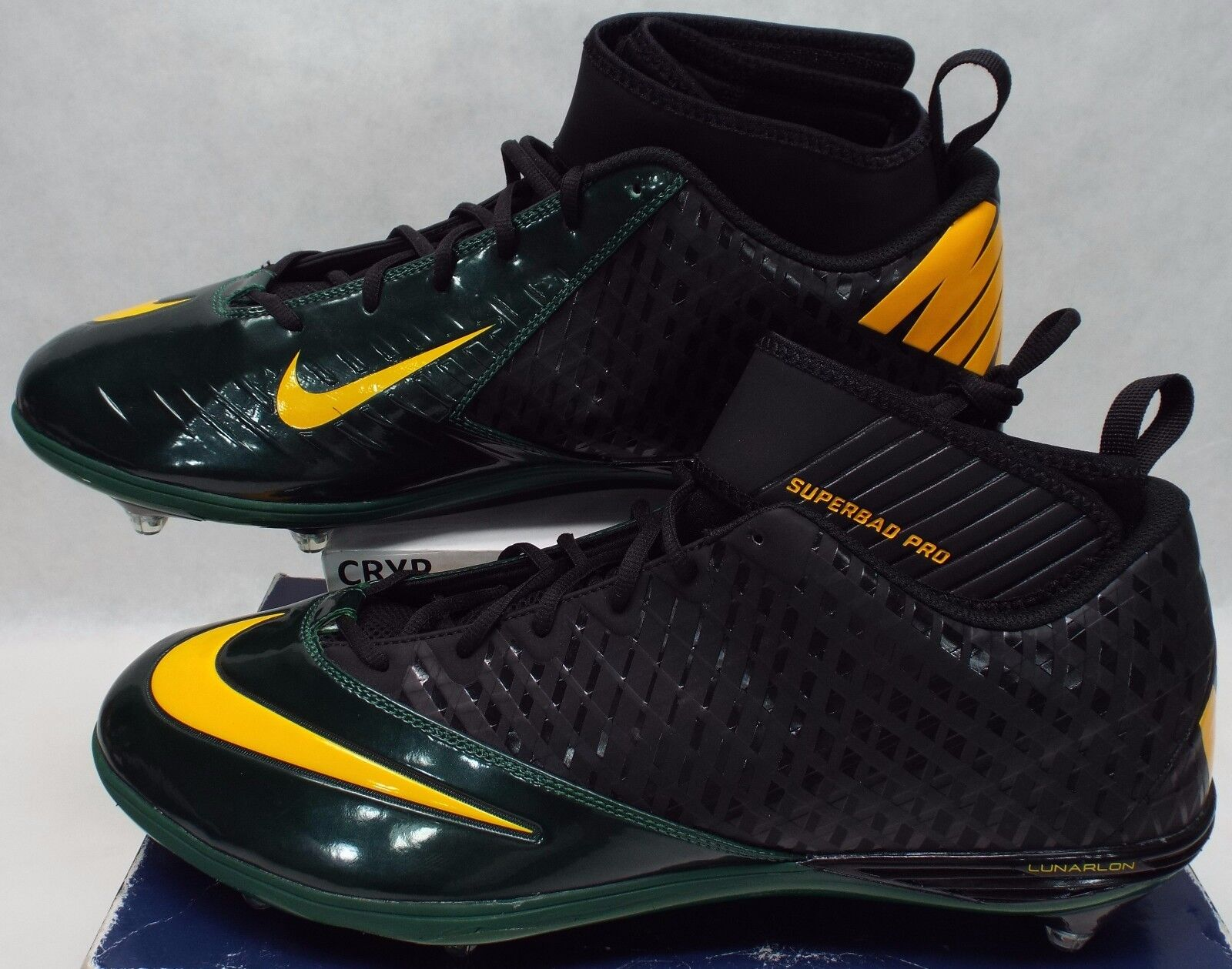 New hommes 18 NIKE Lunarlon Superbad Pro Packers Cleats Chaussures 105 544762-012