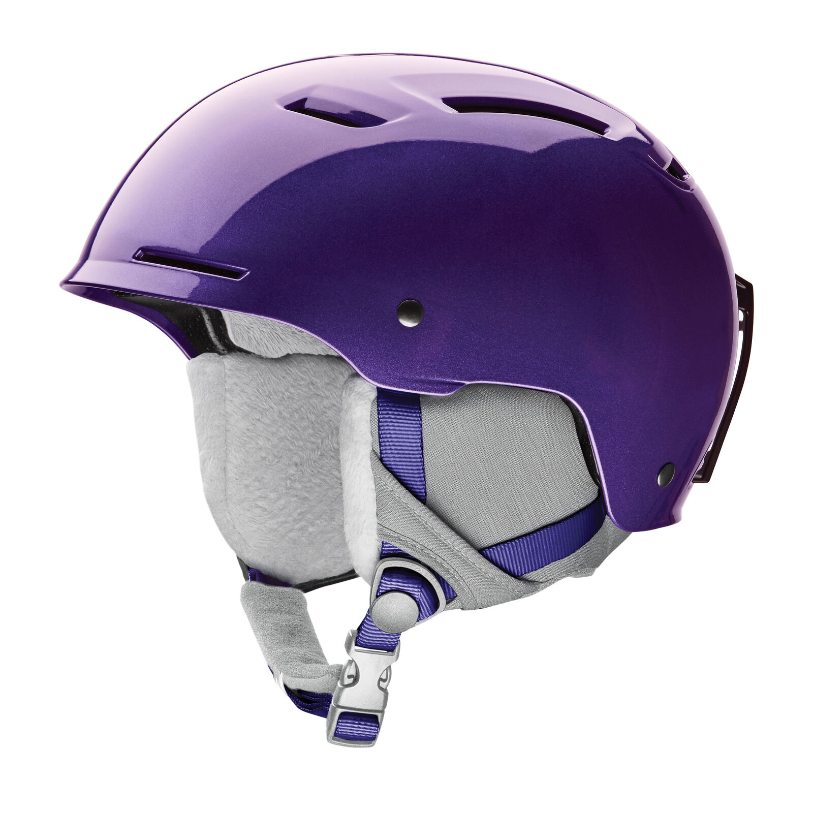 Smith Ski Helmet Snowboard Helmet Pivot Jr Purple Plain Colour Ear Cushion