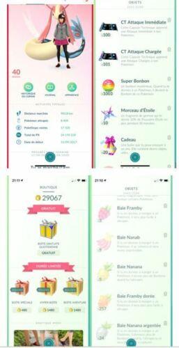 Pokémon Go level 40, 24M XP 1.2M stardust, 106 shiny