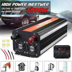 6000W-Car-LCDPower-Inverter-DC12-24V-to-AC110-220V-Sine-Wave-Converter