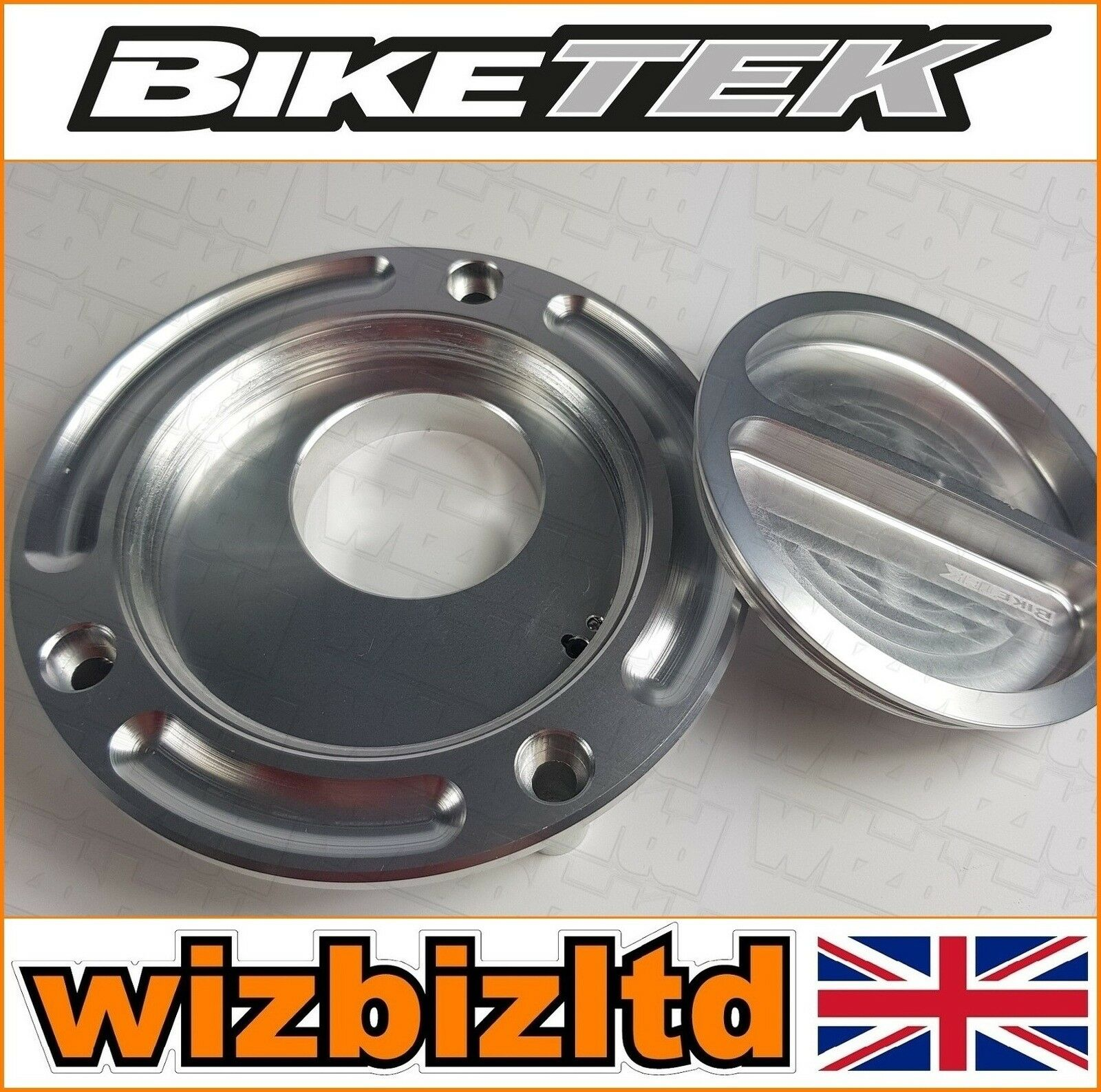 Biketek Silber Silber Silber Schlüssellos Schraube Tankdeckel (Tankdeckel) Yamaha Tdr250 5303c1