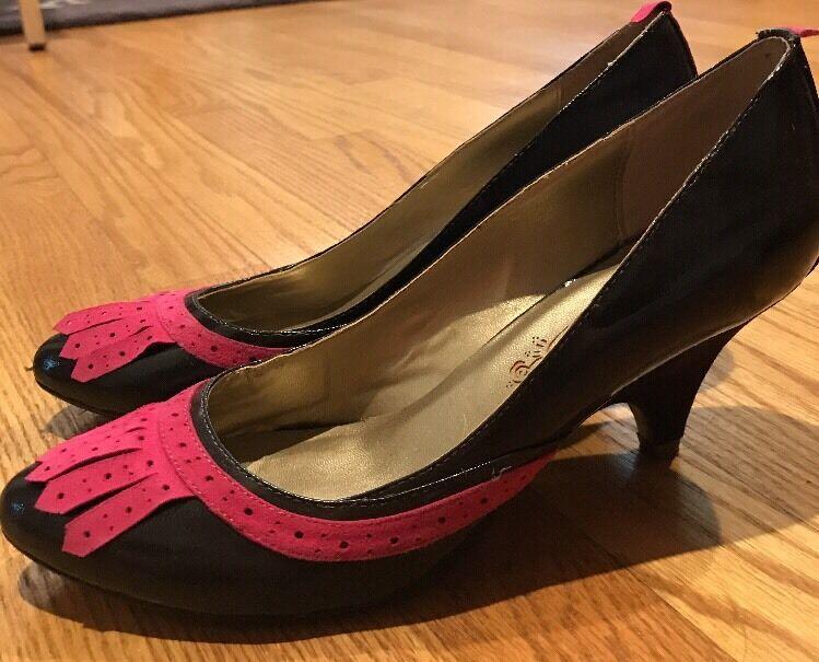POETIC LICENCE Tassel Loafer Chocolate Rosa High Heels Sz damen schuhe Pumps Sz Heels 8.5   1a4210