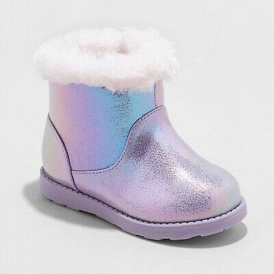 Cat /& Jack Gray Toddler Girls/' Reylin Faux Fur Cuff Ankle Fashion Boots