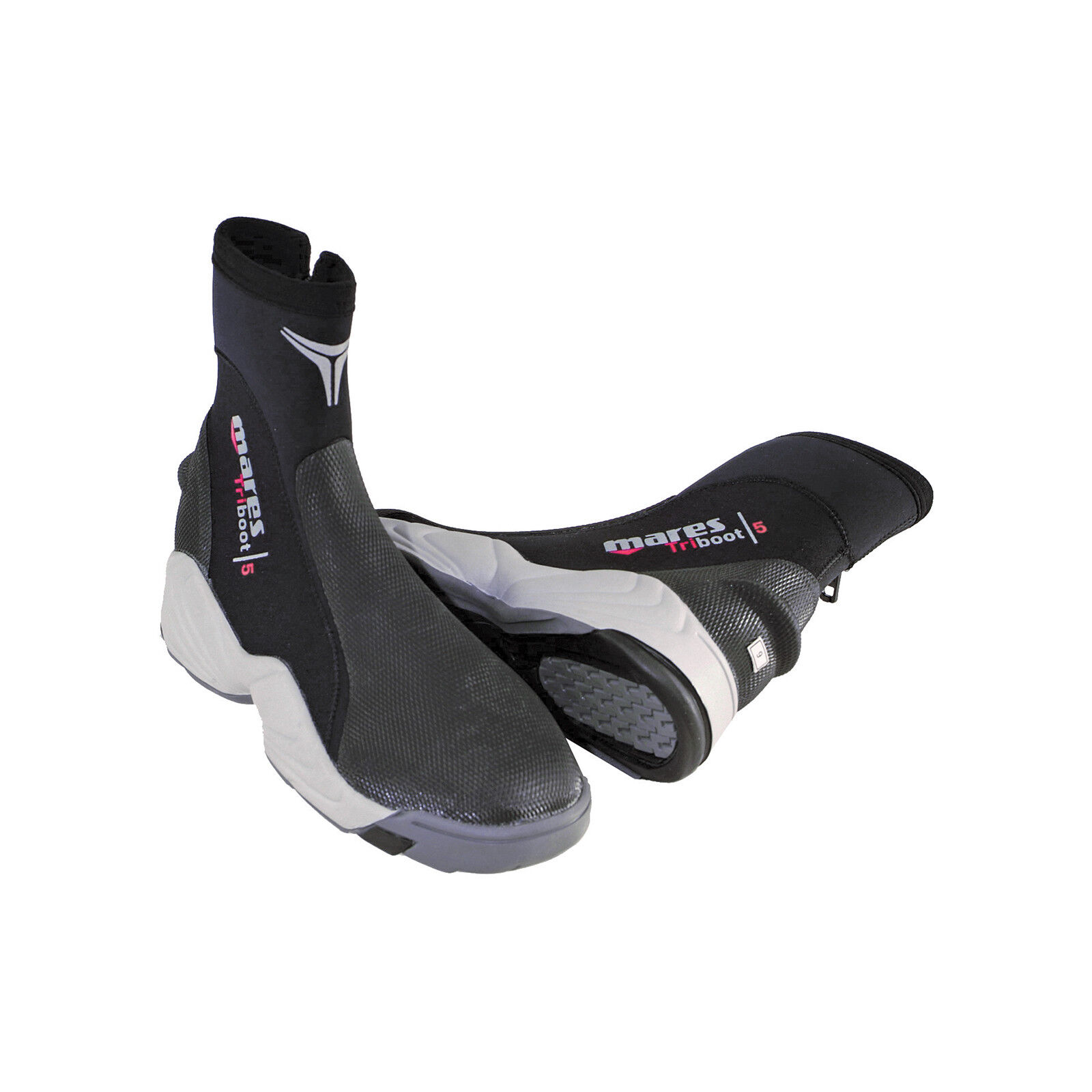 LO3 8 Mares  boots 5mm zip trilastic SIZE 8^