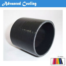 """For 1 7//8/"""" ID:48mm Straight Turbo//Intake Silicone Coupler Hose BLACK"""
