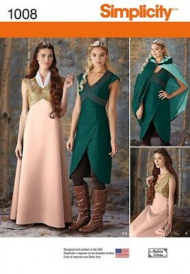 Simplici... Simplicity Ladies Sewing Pattern 1010 Game of Thrones Style Dresses